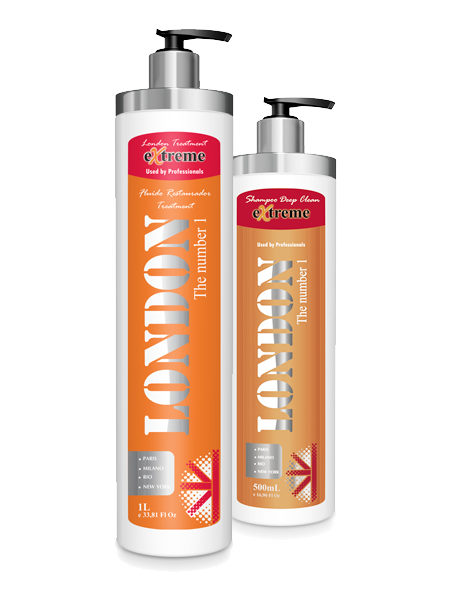 London Extreme Fluído Restaurador 1 L + Shampoo Deep Clean 500 ml