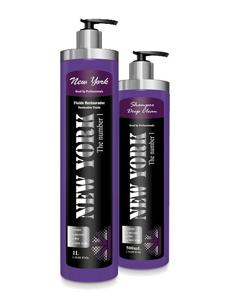 New York Fluído Restaurador 1 L   + Shampoo Deep Clean 500 ml